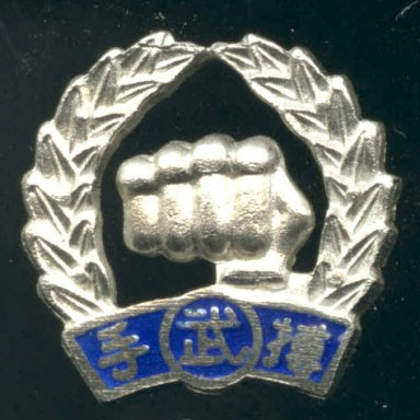 Moo Duk Kwan Fist Pin Issued With 1st Dan Rank Certificate